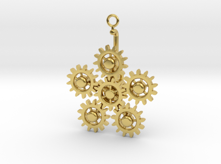Planetary Gear Earring or pendant 3d printed