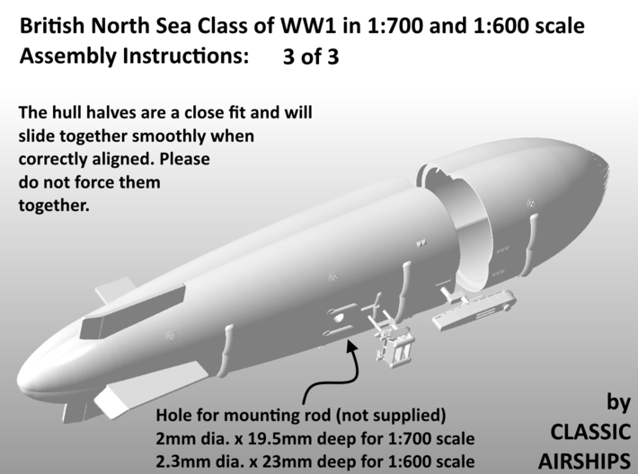 North Sea Class of WW1 3d printed