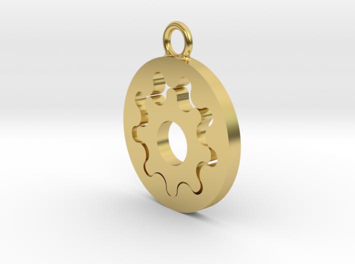 Gerotor Earring 9:8 ratio 3d printed