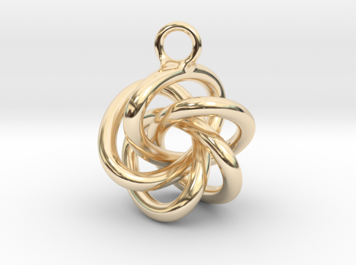 5-Knot Earring 20mm wide 3d printed