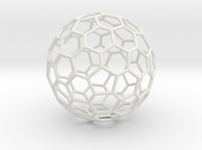 Goldberg polyhedron GP(2, 1) 3d printed