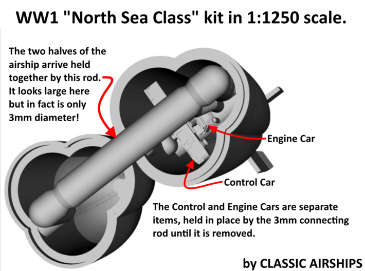 North Sea Class of WW1 3d printed Assembly Instructions p1 of 4
