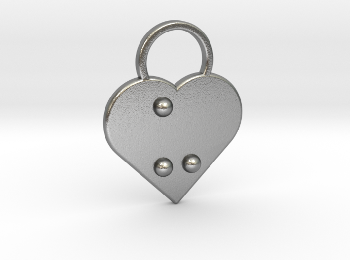 """u"" Braille Heart 3d printed"