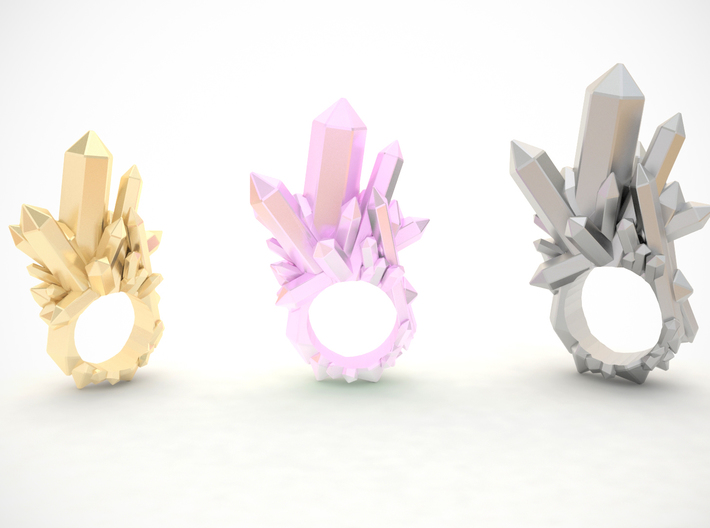 Crystal Ring D16 3d printed