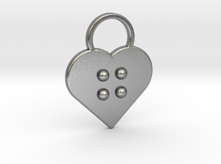"""g"" Braille Heart 3d printed"