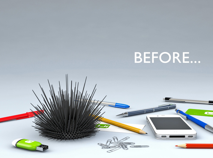 Desk Urchin - A cool way to organize your desk! 3d printed Before Desk Urchin...