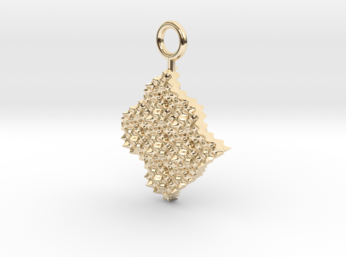 cosine x cosine ripple waves earring 3d printed