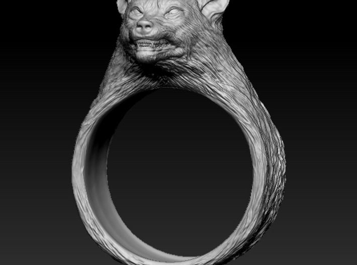 Wolf Ring size 7,5 3d printed