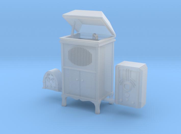 O scale radios phonographs 3d printed