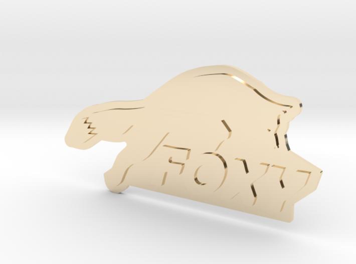 FOXY Badge 1.0 3d printed