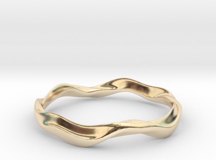 Ima Wave Bangle - Bracelet 3d printed