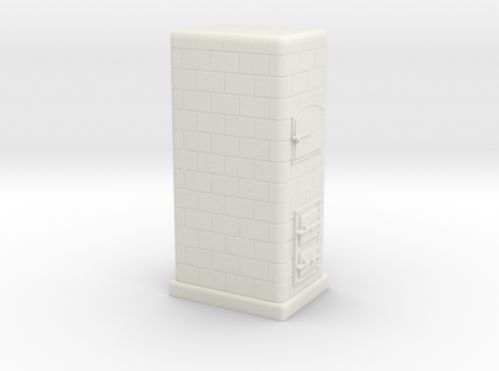 H0 Tiled coal-burning stove 1:87 (IId) 3d printed