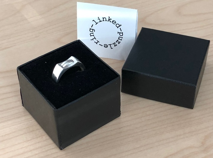 linked-puzzle-ring 3d printed