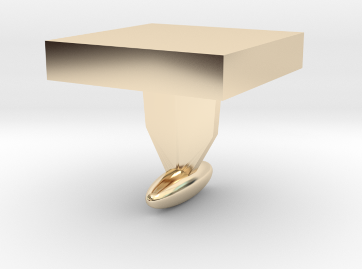 DIY Cuff Link - shape it as you like 3d printed
