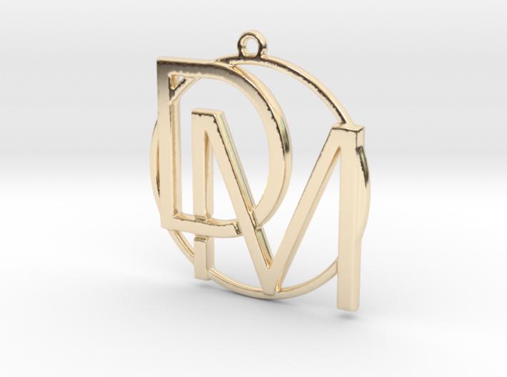 D&M and circle monogram 3d printed