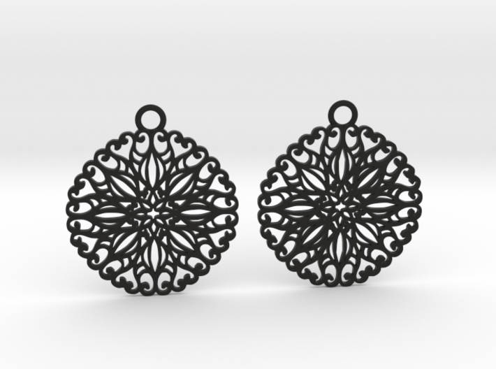 Ornamental earrings no.5 3d printed