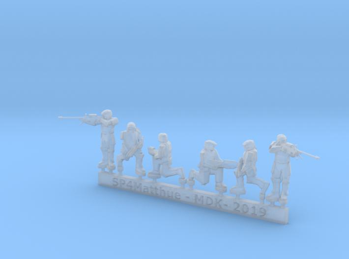 Scifi Marine Sniper Sprue 3d printed