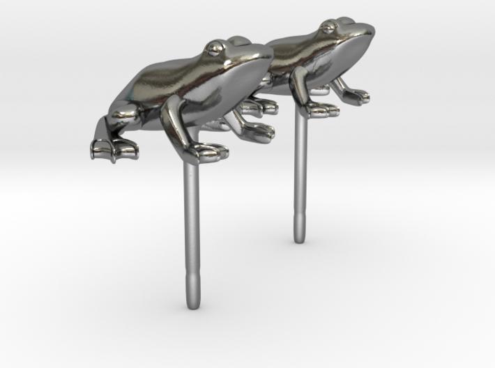 Frog Earrings 3d printed
