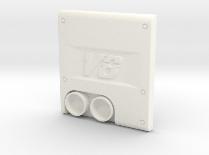 THM 00.2201 Exhaust cover Tamiya MAN V8 3d printed