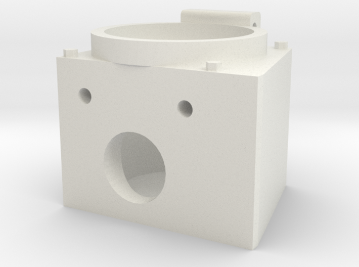 """Angle MU Box for 12 pin connector 1.5"""" scale 3d printed"""