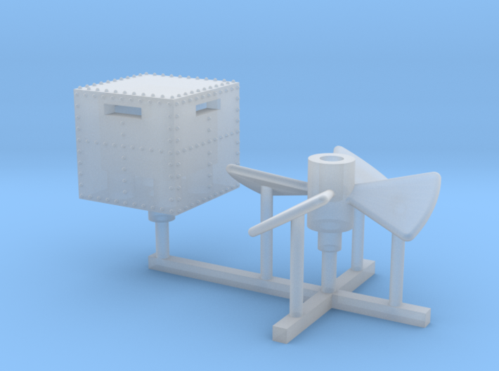 1/192 USS Monitor pilot house and propeller 3d printed