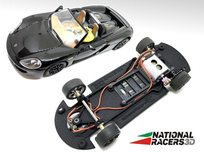3D Chassis - Carrera Porsche Carrera GT (Combo) 3d printed Chassis compatible with Carrera model (slot car and other parts not included)