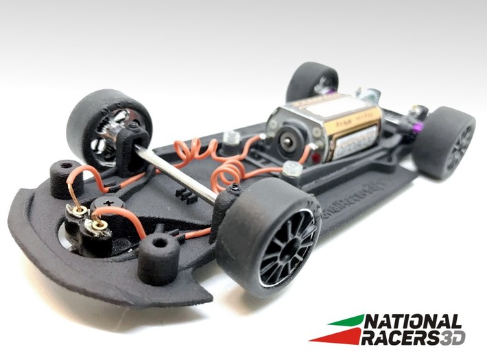 3D Chassis - Carrera Audi R8 (Combo) 3d printed