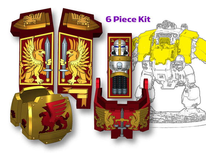 Griffon Corp: Redem Full Kit 3d printed Will fit the Primaris Redemptor model