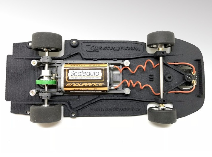 3D Chassis - Fly Porsche 911 GT1 98 (Combo) 3d printed