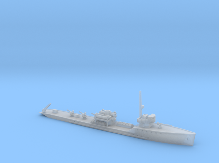 1/600th scale Strela soviet AA ship 3d printed