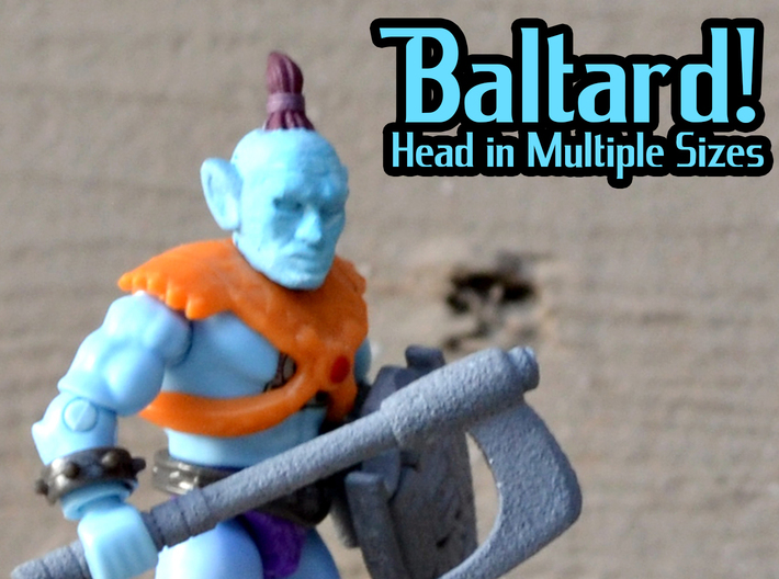 Baltard Head - Multisize 3d printed Hand painted smooth fine detail, on a Megaconstrux Body