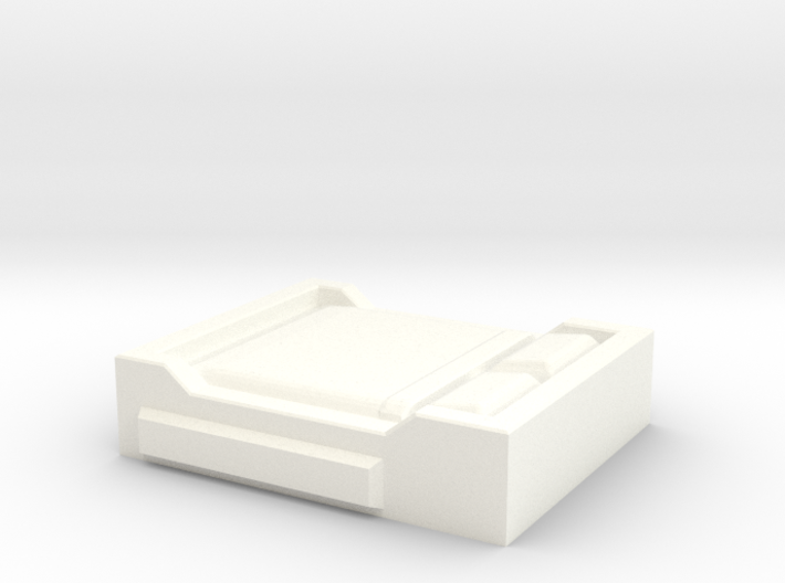 HO Scale Double Bed 3d printed