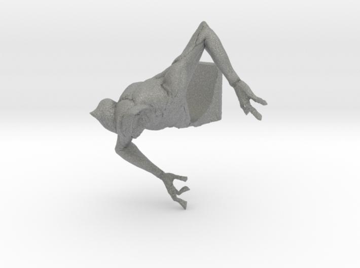 Deamon Bat Bust 3d printed Gray Professional Plastic