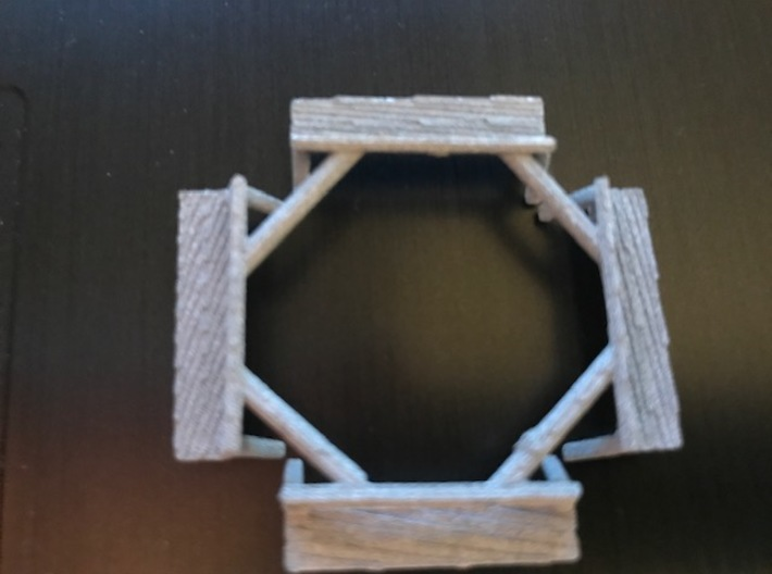HO scale benches 4 connected together two pack 3d printed