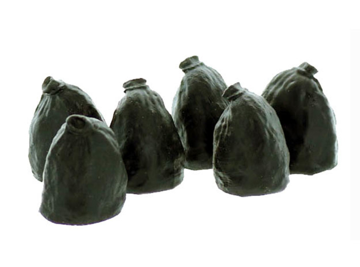 Garbage Bags S scale 6 Pack 3d printed S scale Trash bag 6 Pack