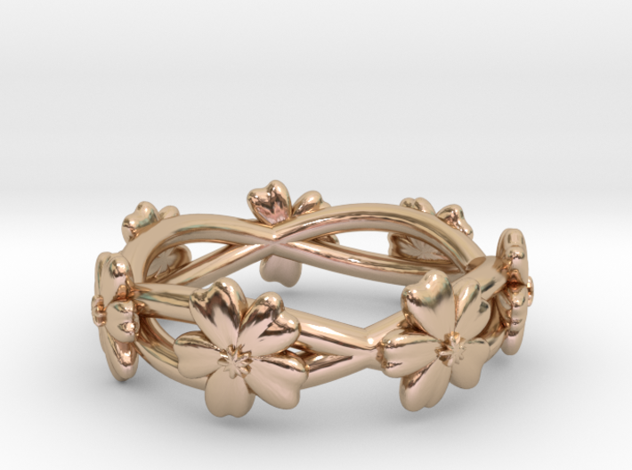 Forget Me Not Ring 3d printed