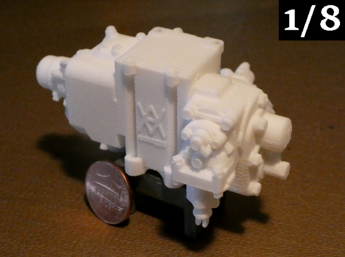 1/8 Scale AB Valve 3d printed KKMC's signature AB valve, now available in 1/8 scale! White Natural Versatile Plastic is shown. Penny and display stand not included.