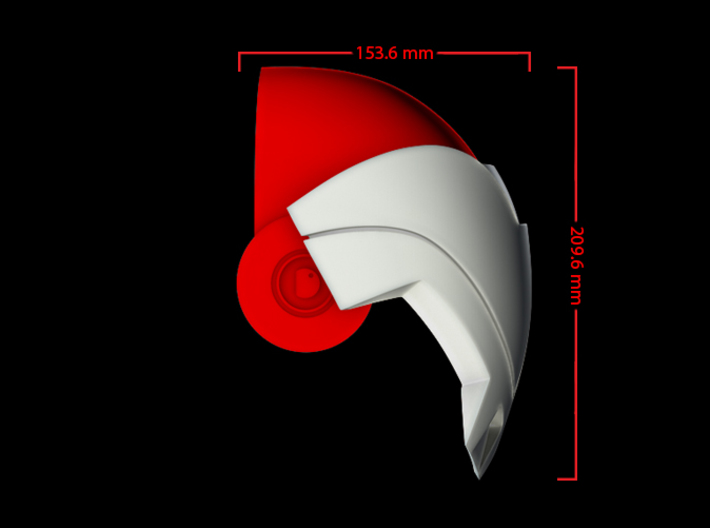 Iron Man Mark IV Shoulder Armor (Inner) 3d printed CG Render (Front Measurements, Inner Armor with Outer Armor)