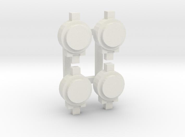 OO / HO Tail Lamp x4 3d printed