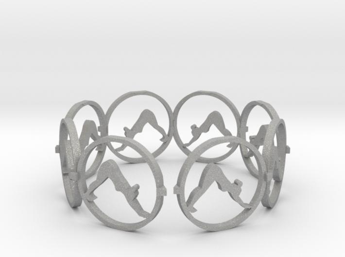downward facing dog yoga ring 3d printed
