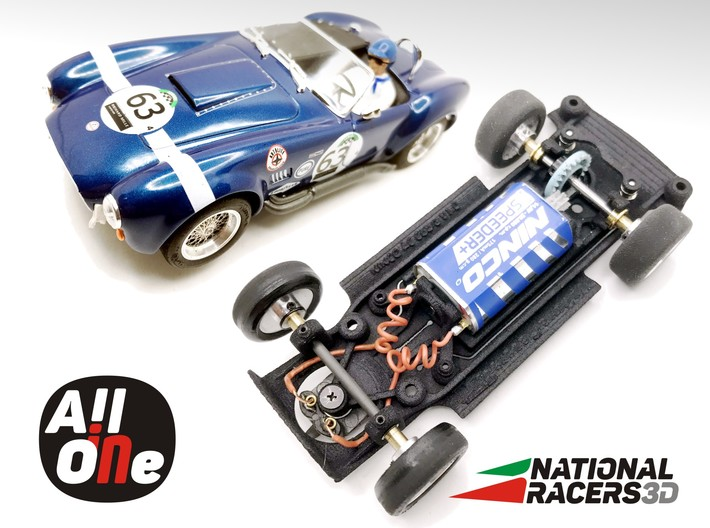 3D Chassis - NINCO AC Cobra (Inline - AiO) 3d printed Chassis compatible with NINCO model (slot car and other parts not included)