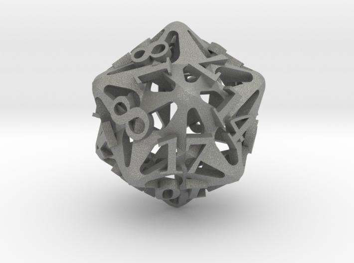 Pinwheel d20 Ornament 3d printed
