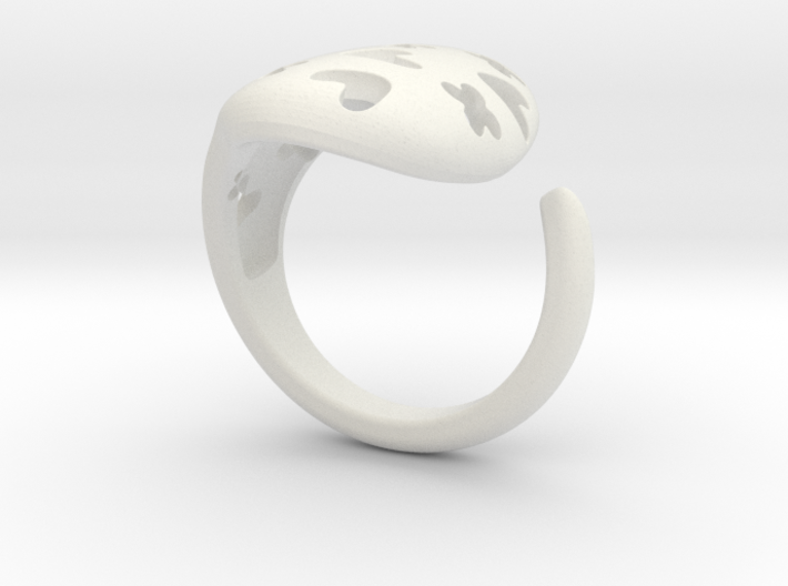 Solid Heart and X Ring. 3d printed