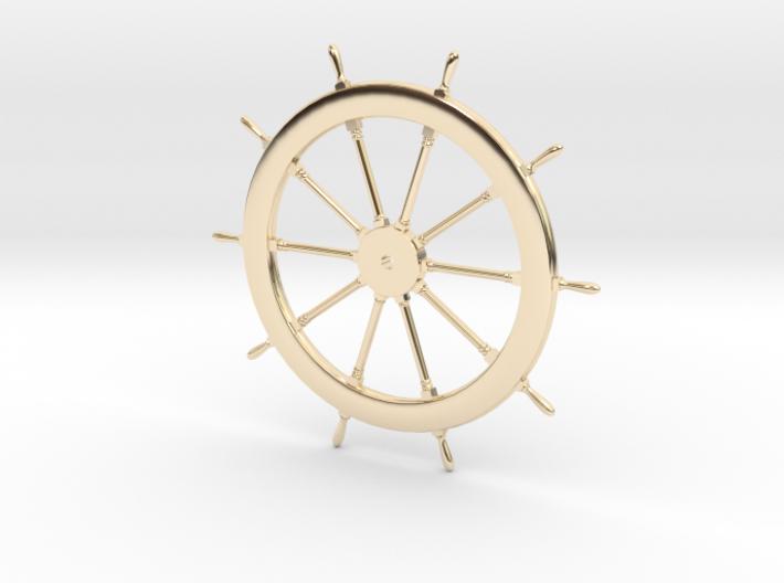 Schooner Zodiac Steering Wheel 3d printed