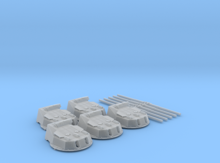 "1/200 HMS Bellerophon 12"" MKX Guns x5 3d printed 1/200 HMS Bellerophon 12"" MKX Guns x5"