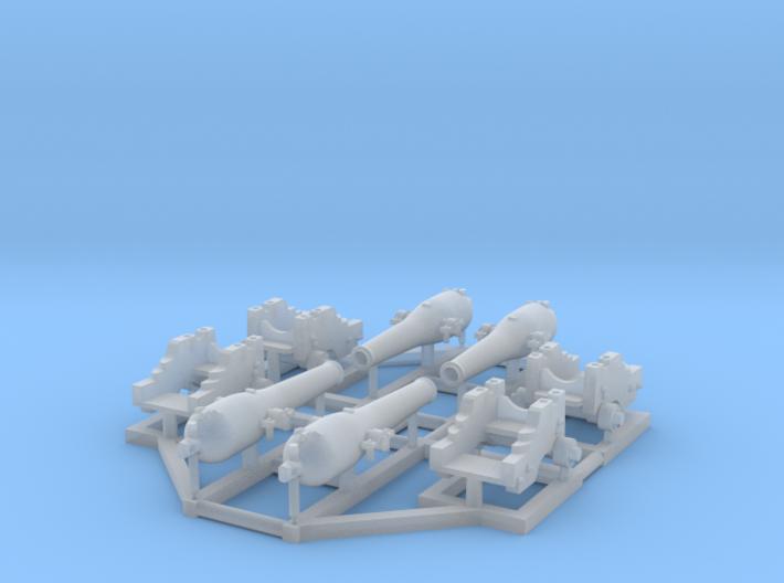4 X 1/150 Dahlgren IX Smoothbore Cannon 3d printed