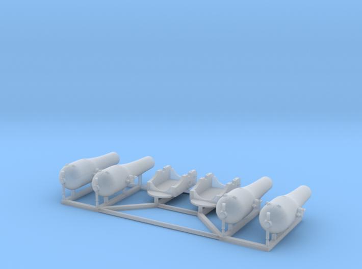 2 X 1/150 Dahlgren XV Smoothbore Cannon 3d printed