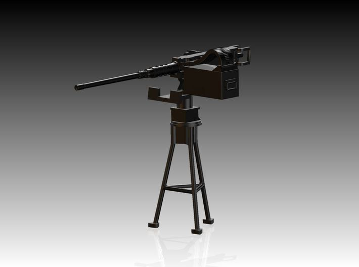 Single Modern 50 Cal Browning on Tripod 1/50 3d printed