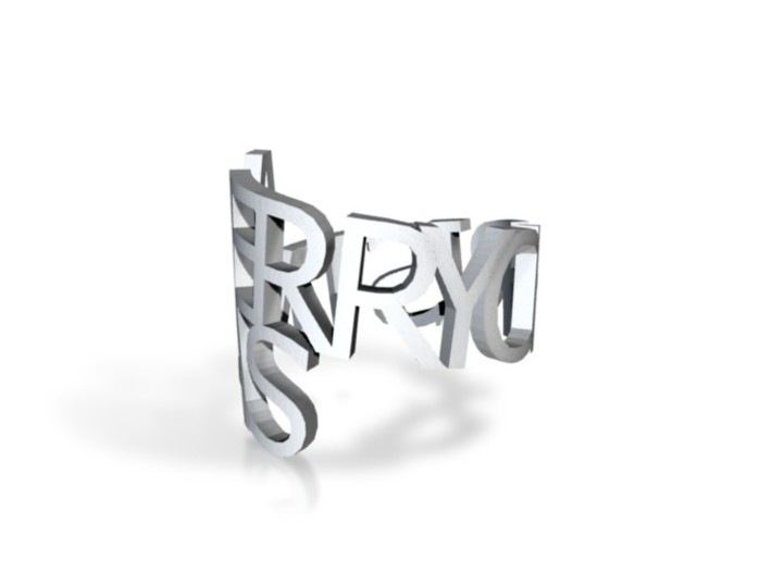 Ring PoemMERRY 3d printed