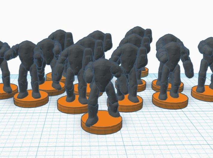 6mm B2 Super Combat Robots X35 3d printed